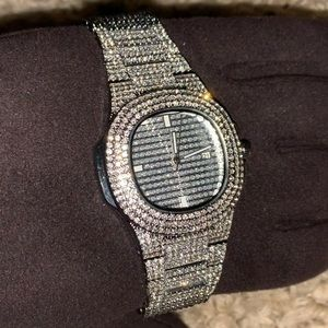 Other - White Gold Baller Watch ICED💎
